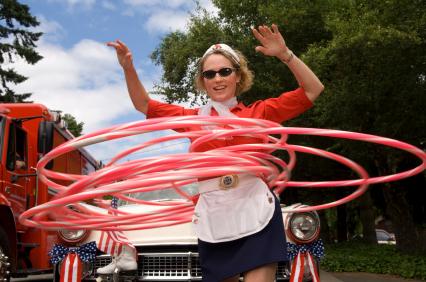 hula hoop woman
